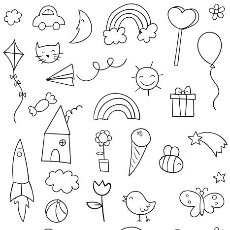Vários desenho para colorir.