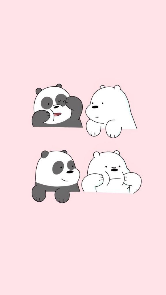 Desenho fofo de panda.