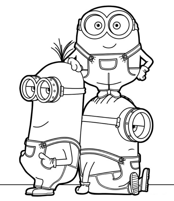 turma desenho do minions