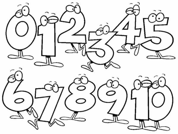 Imagens numéricas para colorir infantil