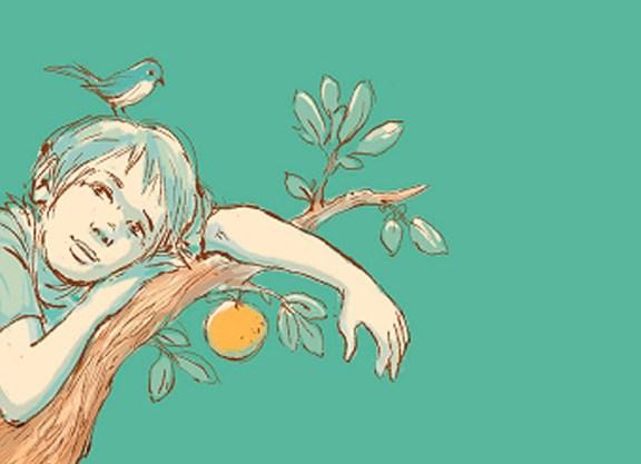 O menino no pé de laranja.