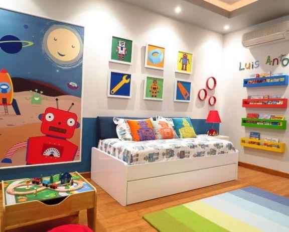 Decoração de quarto infantil para menino.