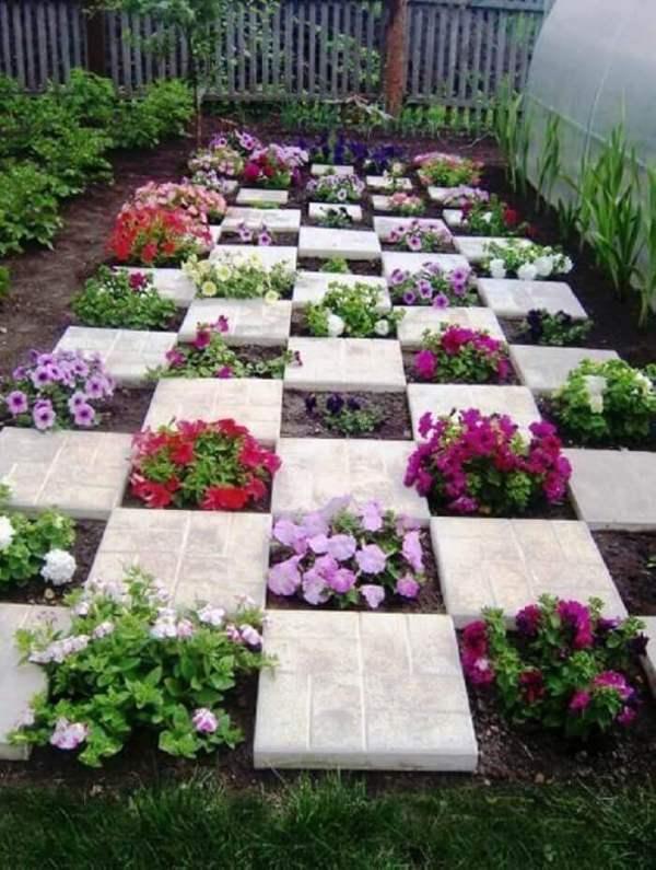 beleza de jardim com flores