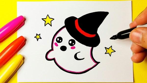 Desenho do fantasminha para desenhar.