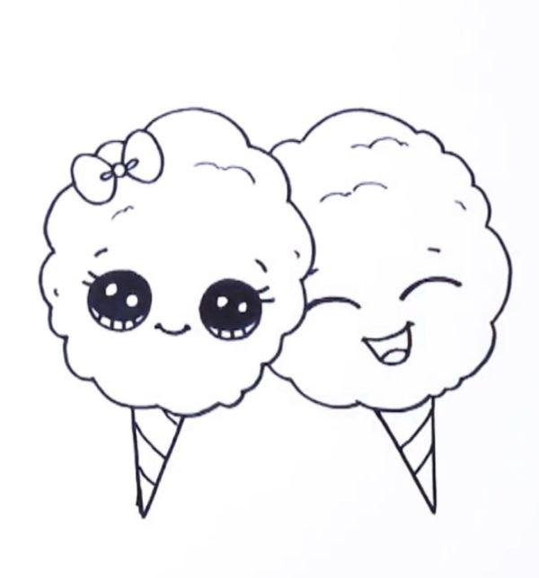 sorvete kawaii fofo