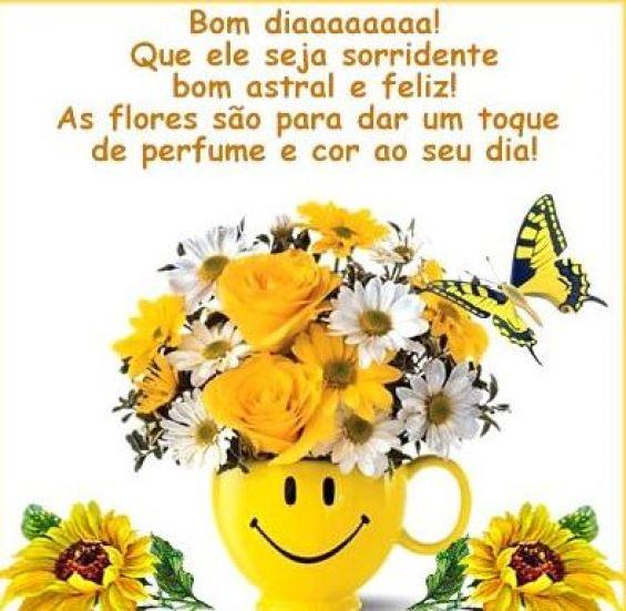 Mensagens de bom dia com flores