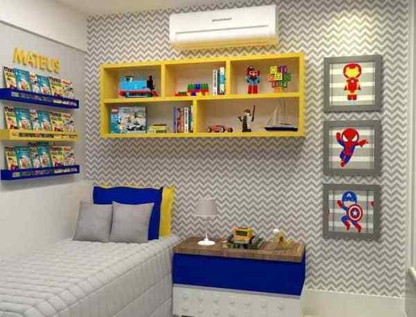 Decoração de quarto de menino tema ''Super-Heróis.''