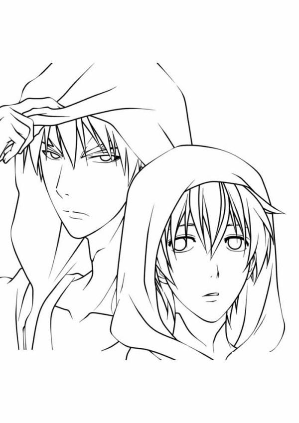 Desenho de anime  tumblr para pintar e se divertir.