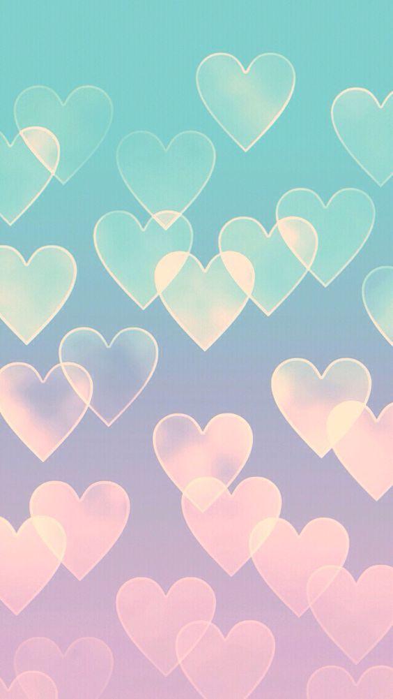 Papel de parede feminino corações