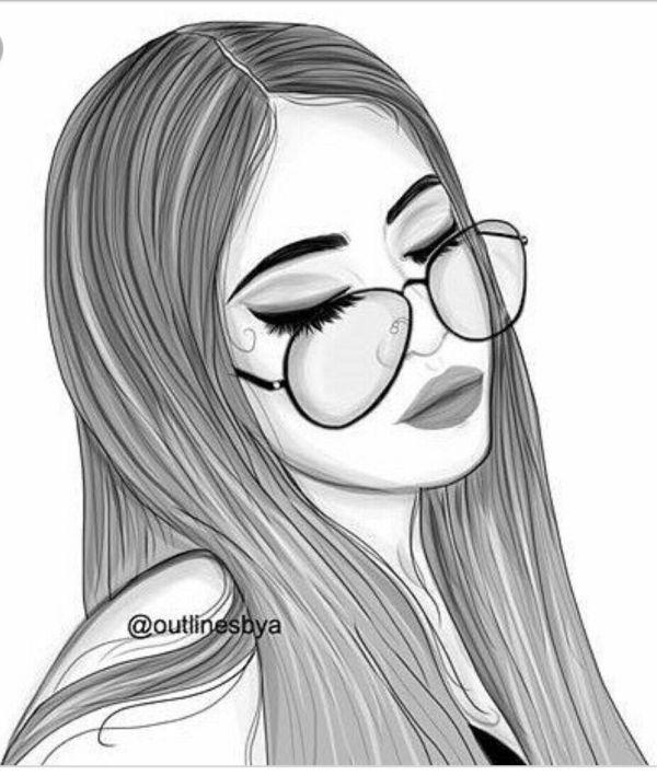 menina desenho realista