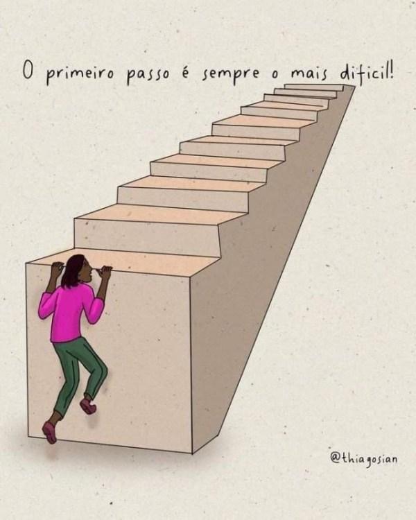 frase motivacional primeiro passo