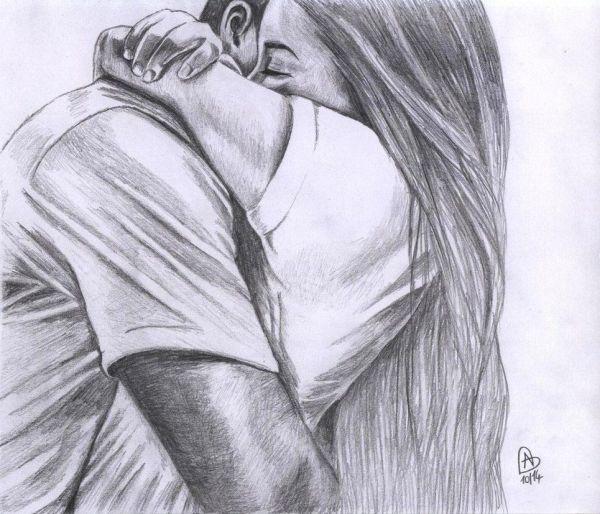 casal desenho realista