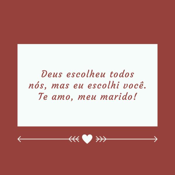 frase romântica para marido.