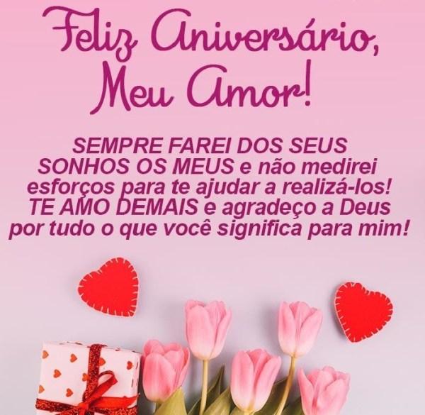 vida Feliz aniversário meu amor.