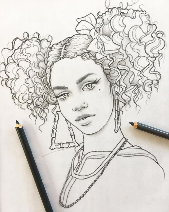 girl desenho realista