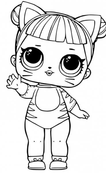 lol gatinho desenho animado para pintar e colorir
