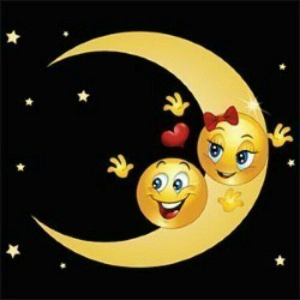 lua bela de emoji boa noite