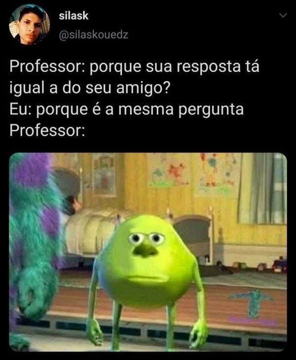 memes engraçada para status professor