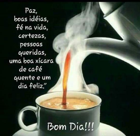 Bom dia com um bom café