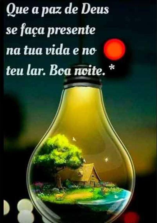 Mensagens de boa noite na paz de Deus