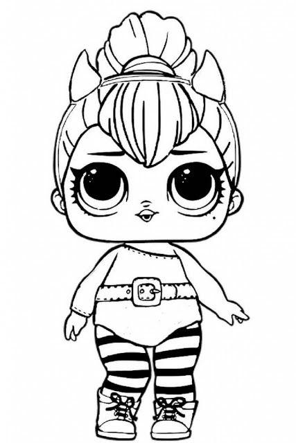 Para colorir desenho da boneca lol