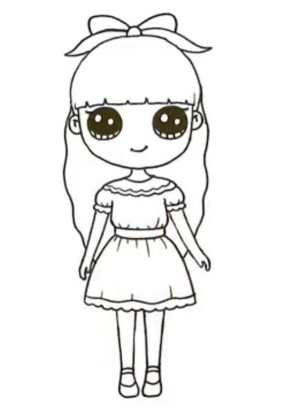 Desenho de bonecas