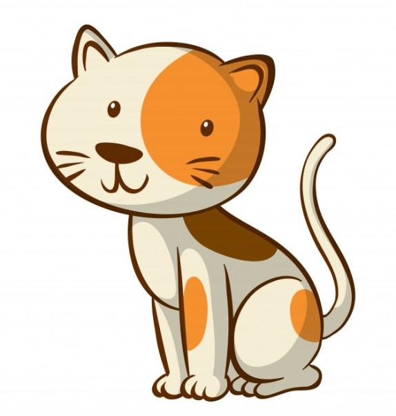 Desenho animado de gatinho fofo