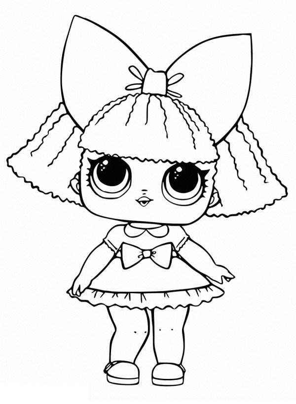Desenhos de bonecas para colorir