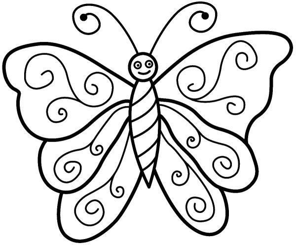 Lindas borboletas para colorir