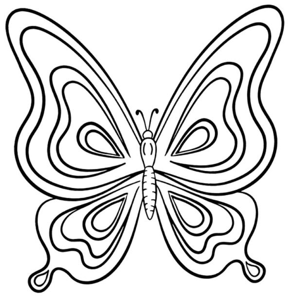 Imagens para colorir de borboletas