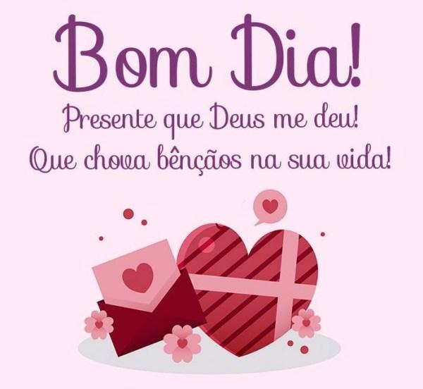 bom dia com presente  Deus