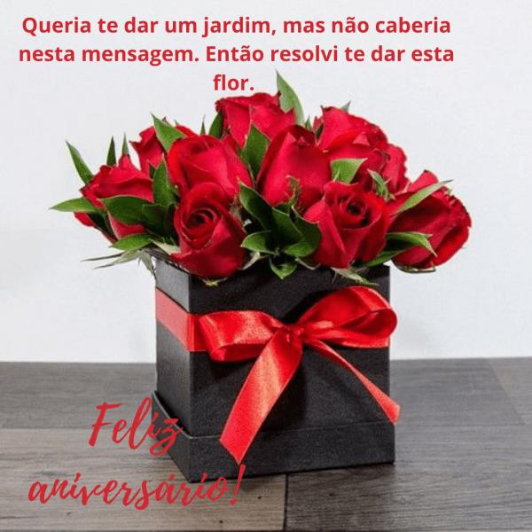 Flores  com mensagens e aniversário