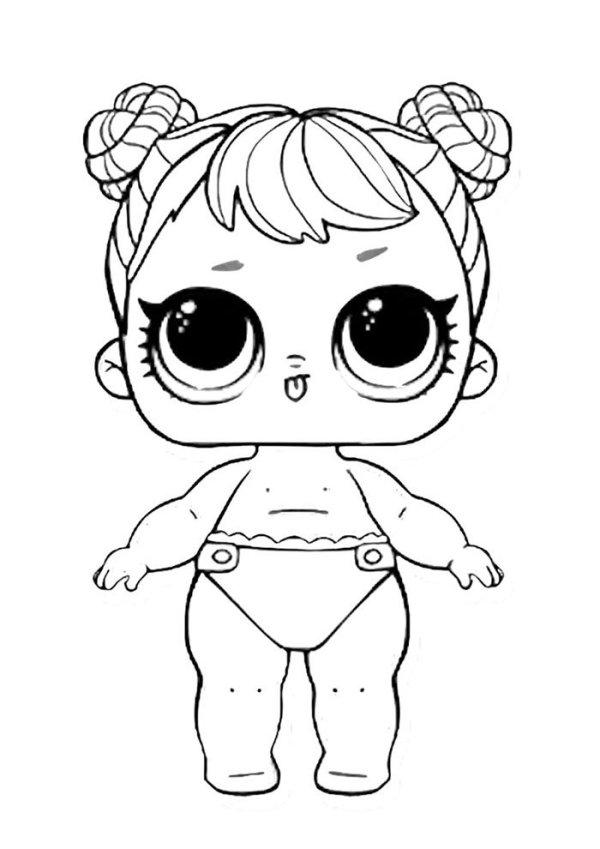 Desenhos para pintar da bebe lol