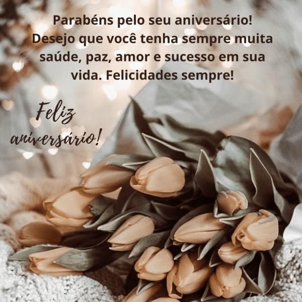 Linda mensagens com flores para felicitações