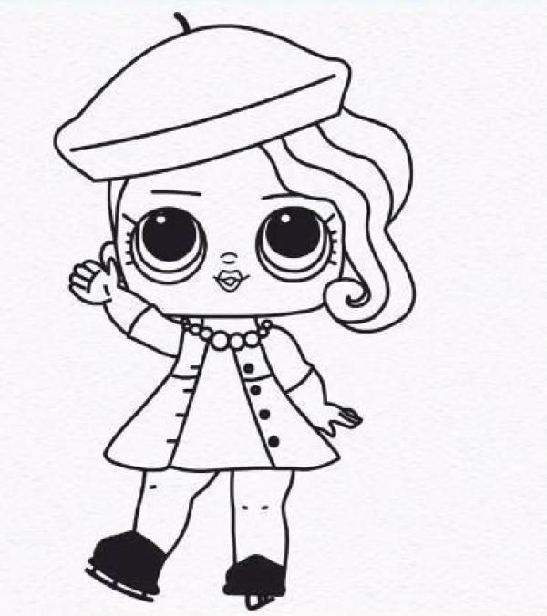 Desenho da boneca lool