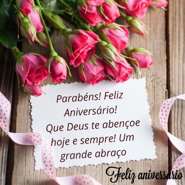 Parabéns com flores