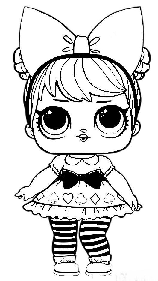 Desenho da boneca lol para meninas colorir