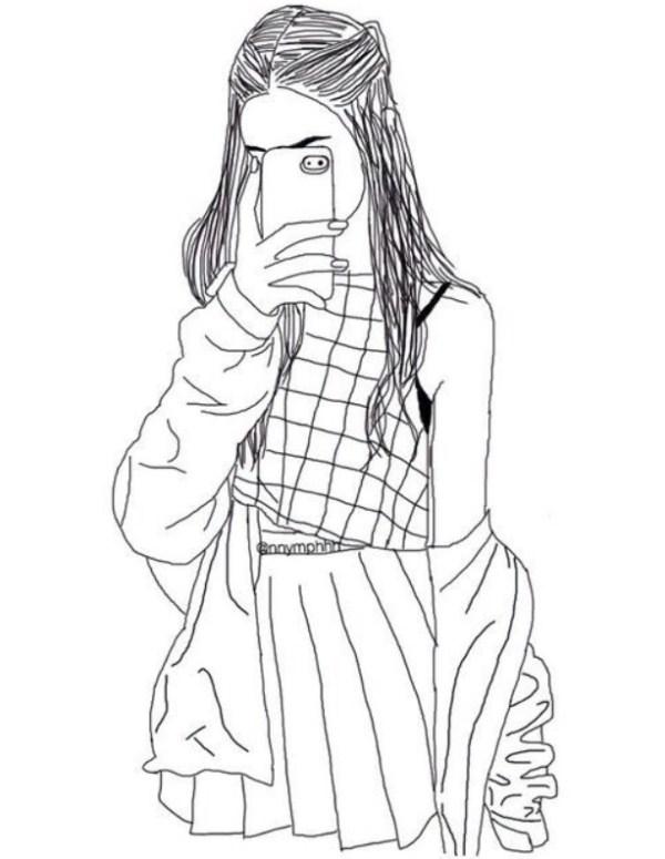 Desenho boneca tumblr