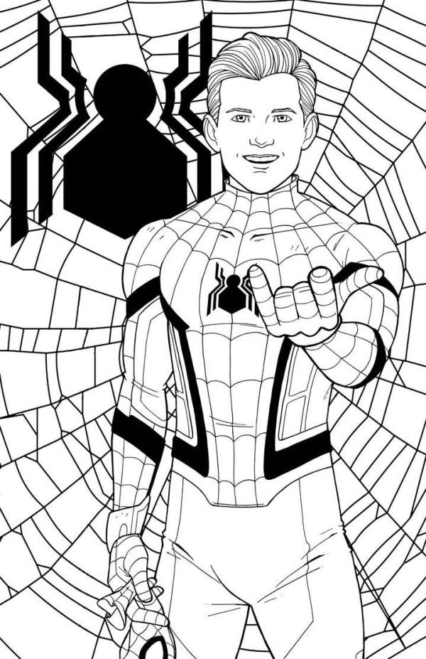 Desenhos do Homem aranha faz a pose