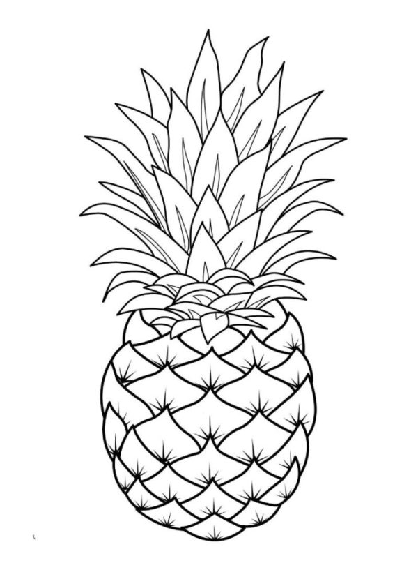 Desenho de um abacaxi para imprimir