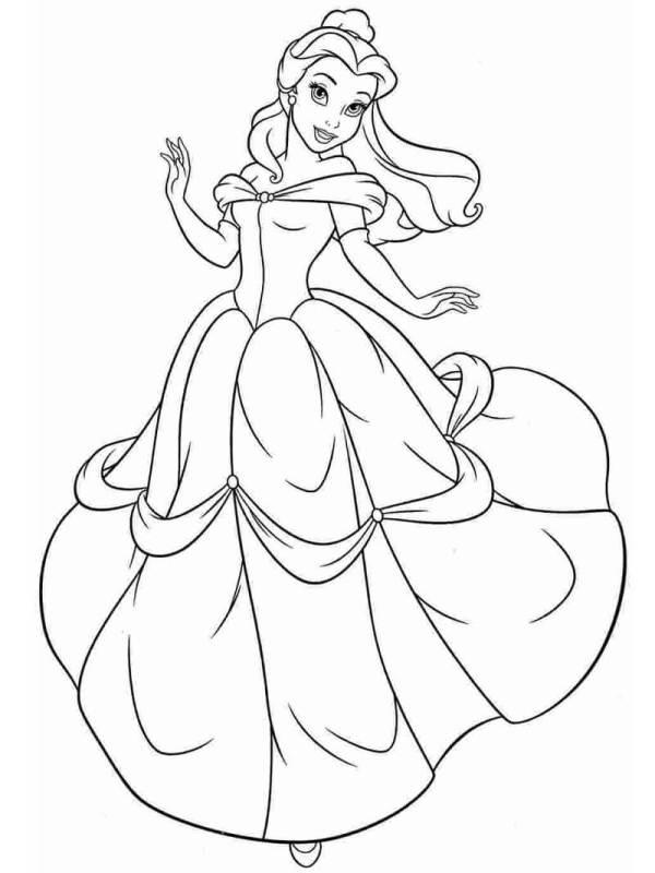 lindo desenho  da Belle princesa