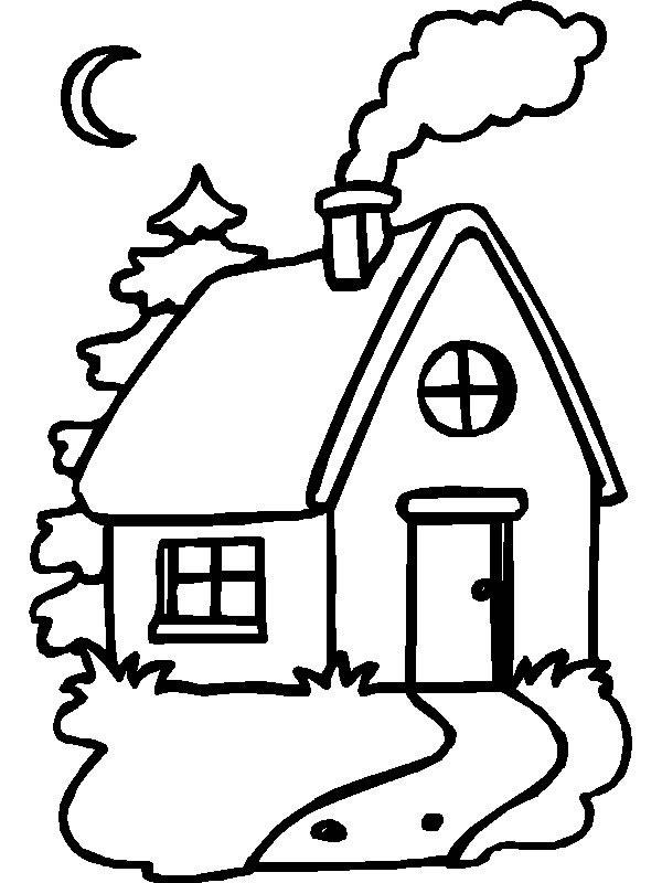 Desenho de uma casa para imprimir