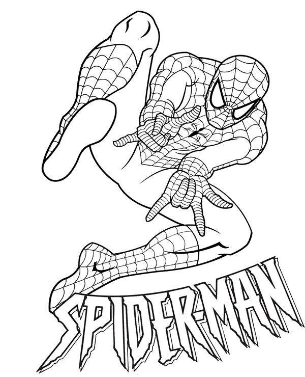 Desenhos do Homem aranha nas aventuras