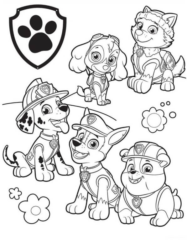 Desenhos da patrulha para imprimir