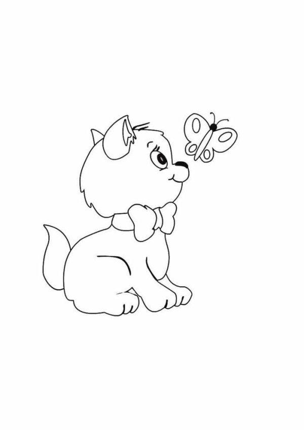 Desenho de um filhote de cão para imprimir