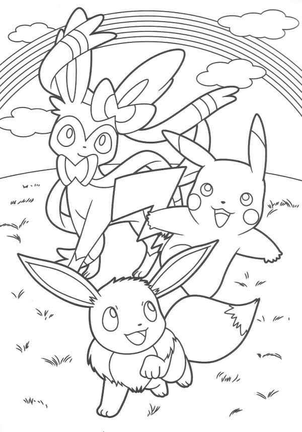 para colorir Pokémon