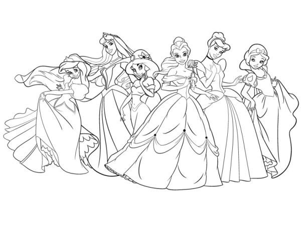 Princesas bonitas para colorir