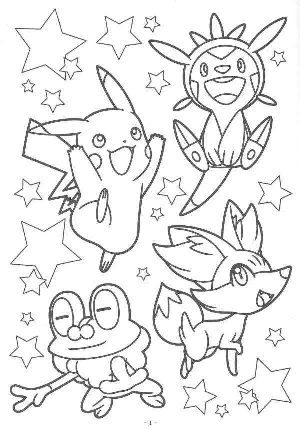 Pokémon alegre com amigos