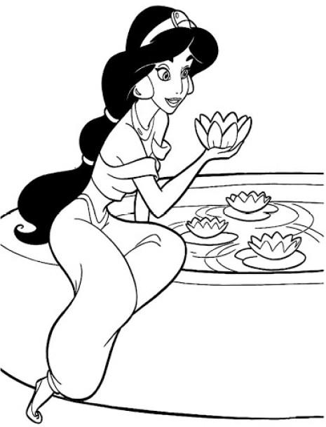 Princesa jasmim desenho fácil