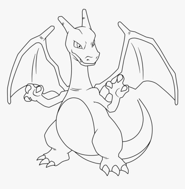 Desenho de dragão Charizard